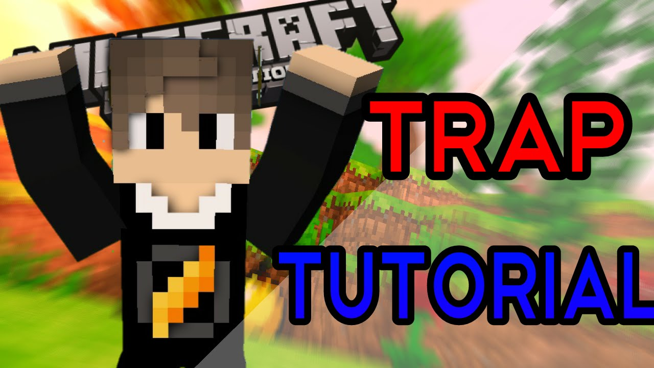 how to make a redstone trap in pe