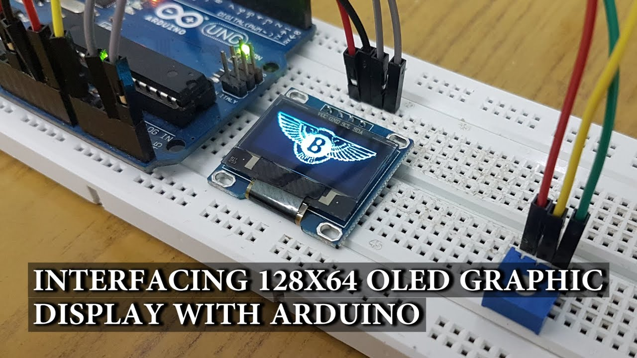 interfacing 128 64 oled graphic display with arduino hook up guide tutorial [ 1280 x 720 Pixel ]