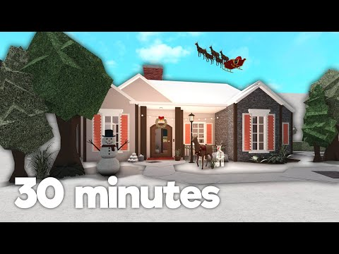 i built a house in 30 minutes (bloxburg)