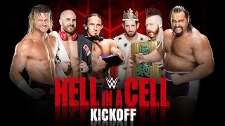 wWE Hell In A Cell 2015 Official Match Card HD (Old Section Gold)