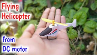how To Make Flying Helicopter from dc motor in ₹20