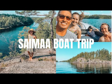 Family Boat Trip on Lake Saimaa