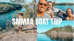 Family Boat Trip on Lake Saimaa
