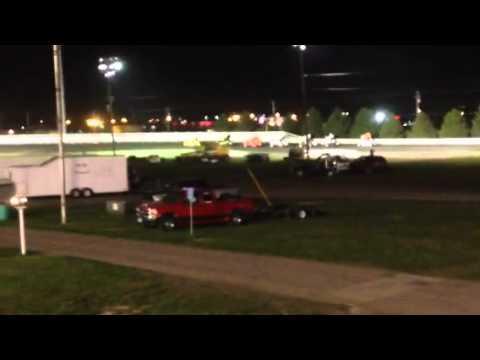 Clint Benson IMCA Sprintcar Win Iowa state fair