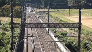 東北新幹線 那須塩原-新白河 E7系 金沢~仙台直通団体臨時列車 通過 2018.10.21