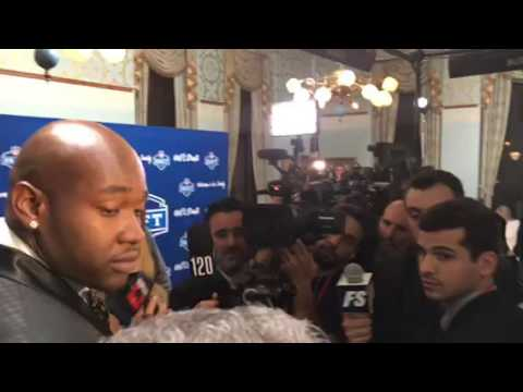 Laremy Tunsil Hounded By Media After 1st Bong Video Interview At NFL Draft #NFLDraft