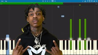 Polo G , Lil Tjay - Pop Out - Piano Tutorial