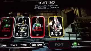 MKX Mobile Liu Kang Challenge -  Final Battles Complete (again)