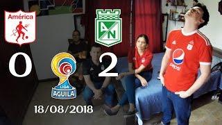 Reacciones America de Cali 0 vs Atletico Nacional 2   Liga Aguila II 2018