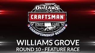World of Outlaws Craftsman Sprint Car Championship // Race 10 - Williams Grove