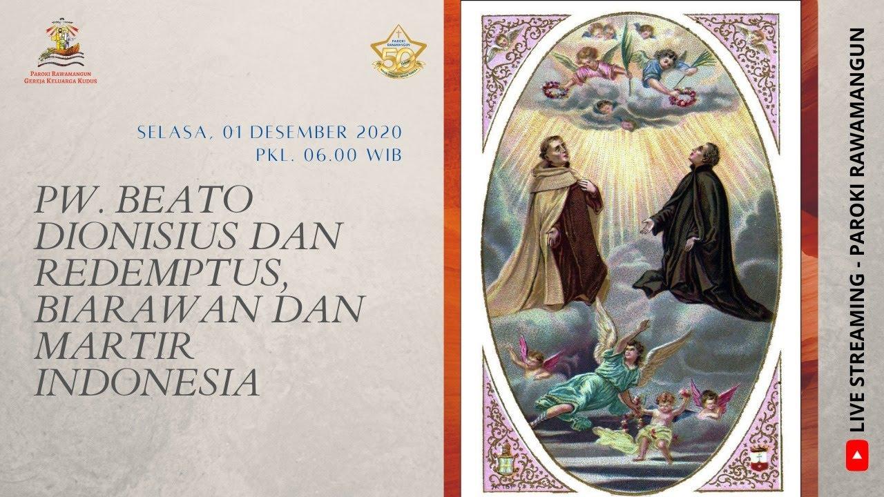 Misa Pekan ADVEN I Selasa, 01 Desember 2020 pkl 06.00