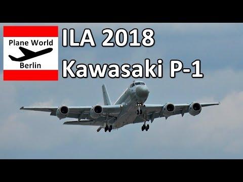 ILA 2018: Kawasaki P-1 Maritime Patrol takeoff from Berlin SXF