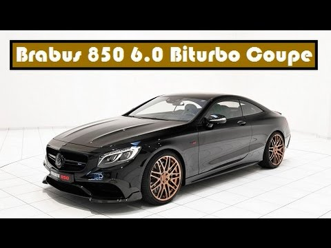 brabus 850 6 0 biturbo coupe is a s63 amg coupe with the. Black Bedroom Furniture Sets. Home Design Ideas