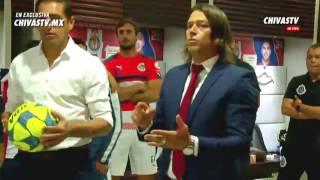 Charla técnica en vestuarios de Matias Almeyda antes de final copa mx Chivas - Monarcas