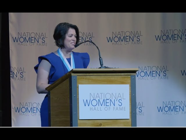 NICOLE MALACHOWSKI Acceptance Speech – Nat'l Women's Hall of Fame 2019