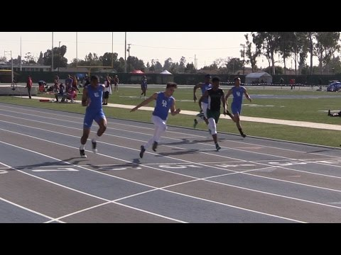 2016 Track - California Relays 100M Boys Small School Final