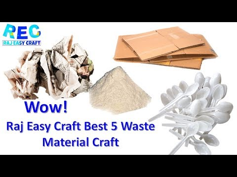 DIY 5 Amazing Waste Material Craft || Best Newspaper Craft