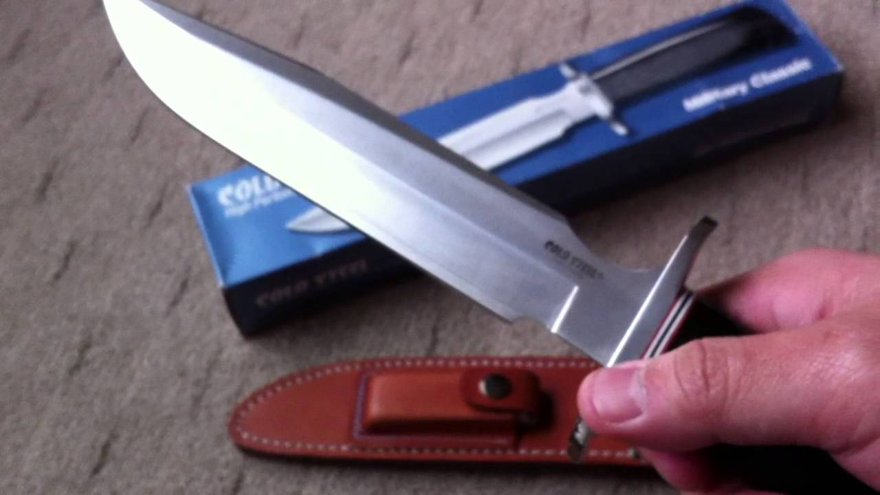 Cold Steel Marauder Bowie Review | OsoGrandeKnives - YouTube