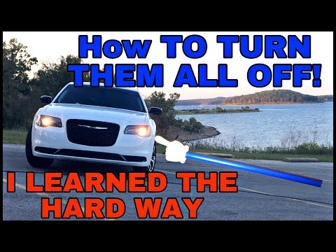How To Turn Off All Front-end Lights On Chrysler 300, Charger, Other Mopars+ Daytime Running Lights