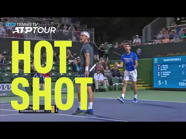 Hot Shot: Fognini's Fast Hands Shine In Fantastic Doubles Point   Indian Wells 2019