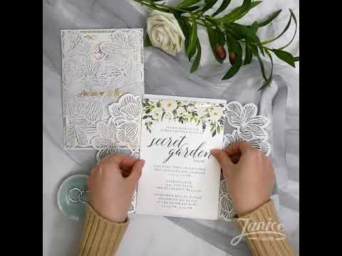 DIY  Exquisite Flower Invitations WPL0020 suite