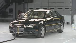 2005 Audi A4 side IIHS crash test