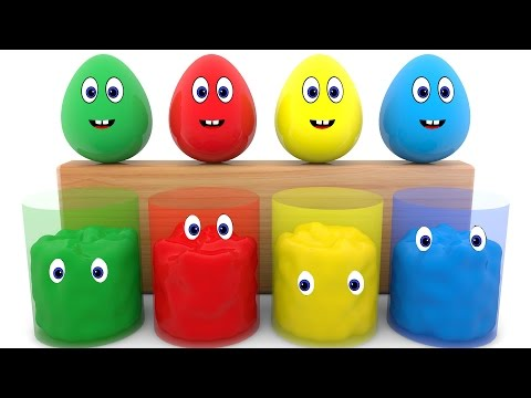 Thumbnail: Learn Colors with Surprise Eggs 3D for Kids - Learning Video For Childrens