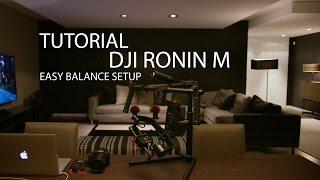 Gambar cover TUTORIAL - DJI  RONIN M EASY BALANCE SETUP