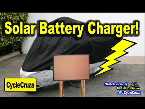 Battery Tender Solar Charger for Motorcycle and Cars!