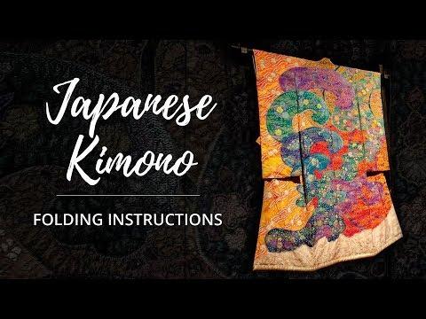 Japanese Kimono Folding Instructions | Itchiku Kubota Art Museum