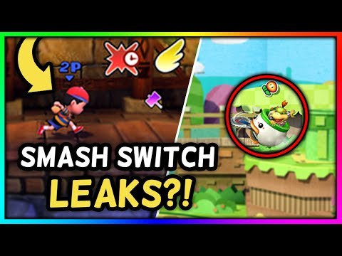 ARE THESE SMASH BROS. SWITCH GAMEPLAY LEAKS?! - Super Smash Bros. Switch Leaks Analysis & Thoughts