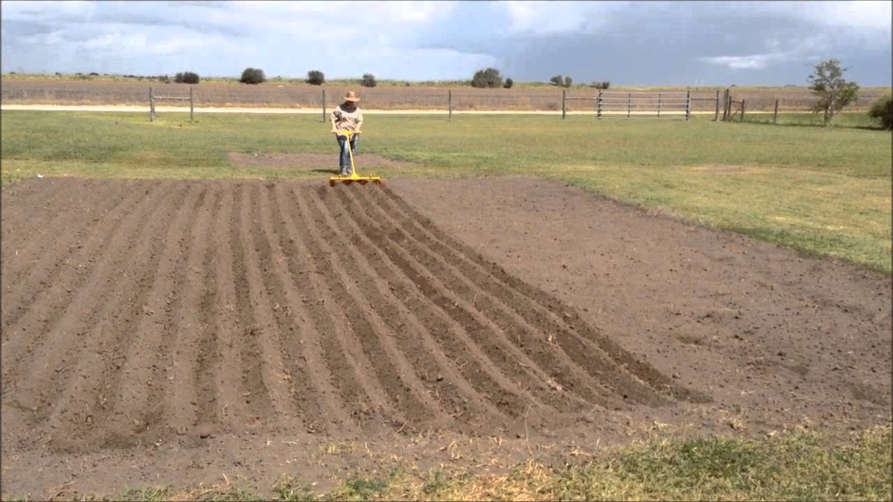 First Time Making Garden Rows - YouTube