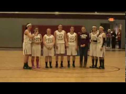 Carolina Christian School Lady Lions Sing the National Anthem