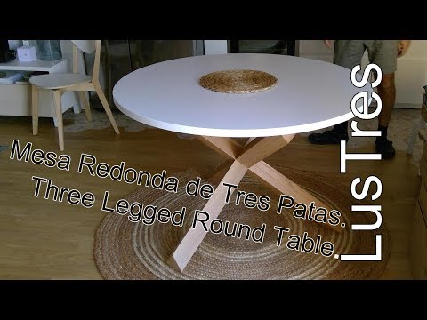 Round Table La Mesa.Mesa Redonda De Tres Patas Youtube