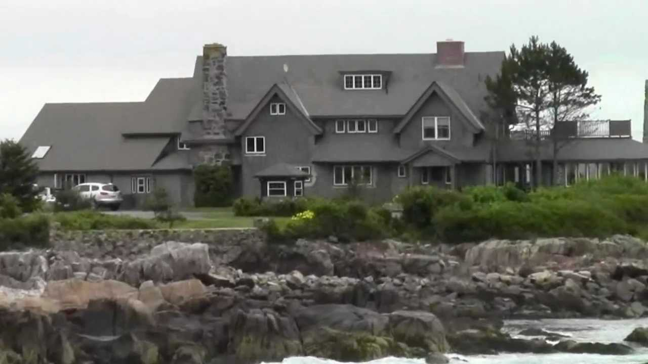 George Bush House In Kennebunkport Youtube