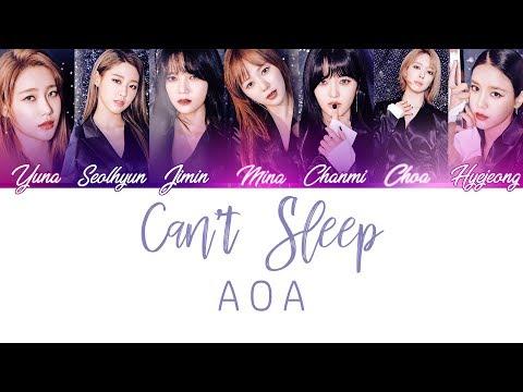 Can't Sleep - AOA Lyrics [Color Coded/Han/Rom/Eng]