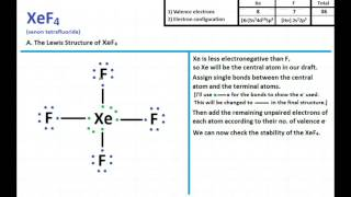 Xef4 Lewis Structure And Molecular Geometry Youtube