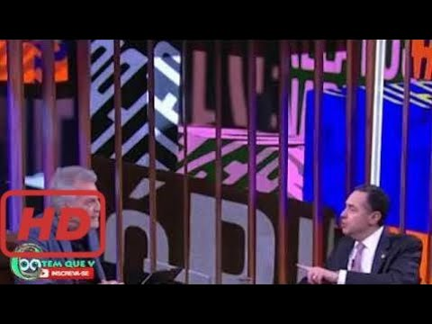 Pedro Bial entrevista Luís Roberto Barroso, ministro do Supremo Tribunal Federal, que Arepia Bial