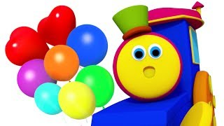 Balloon Song | Bob the Train Cartoons  | Nursery Rhymes for Kids