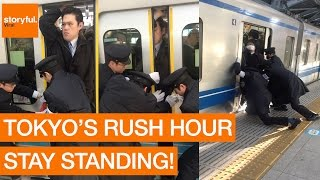 Stony-Faced Passenger Squeezes Onto Tokyo Subway During Rush Hour (Storyful, Crazy)