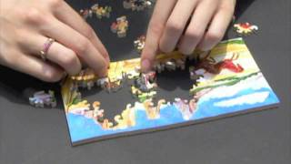 Putting Together A Hand Cut Wooden Jigsaw Puzzle