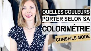 Cover images QUELLES COULEURS PORTER SELON SA COLORIMETRIE - Conseils mode & style