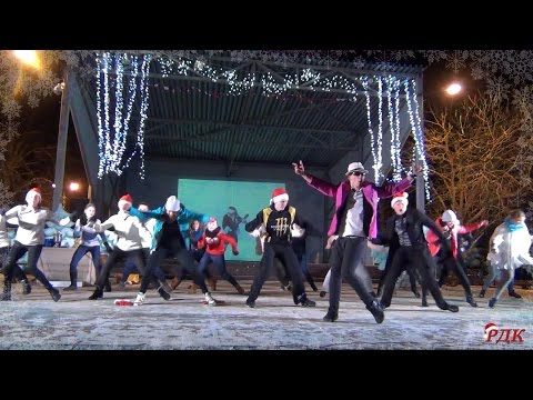Видео: Новогодний флешмоб 2016 в г Кировск ЛО