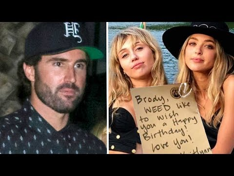 Miley Cyrus And Kaitlynn Carter Send WEED Bouquet To Brody Jenner -- VIDEO