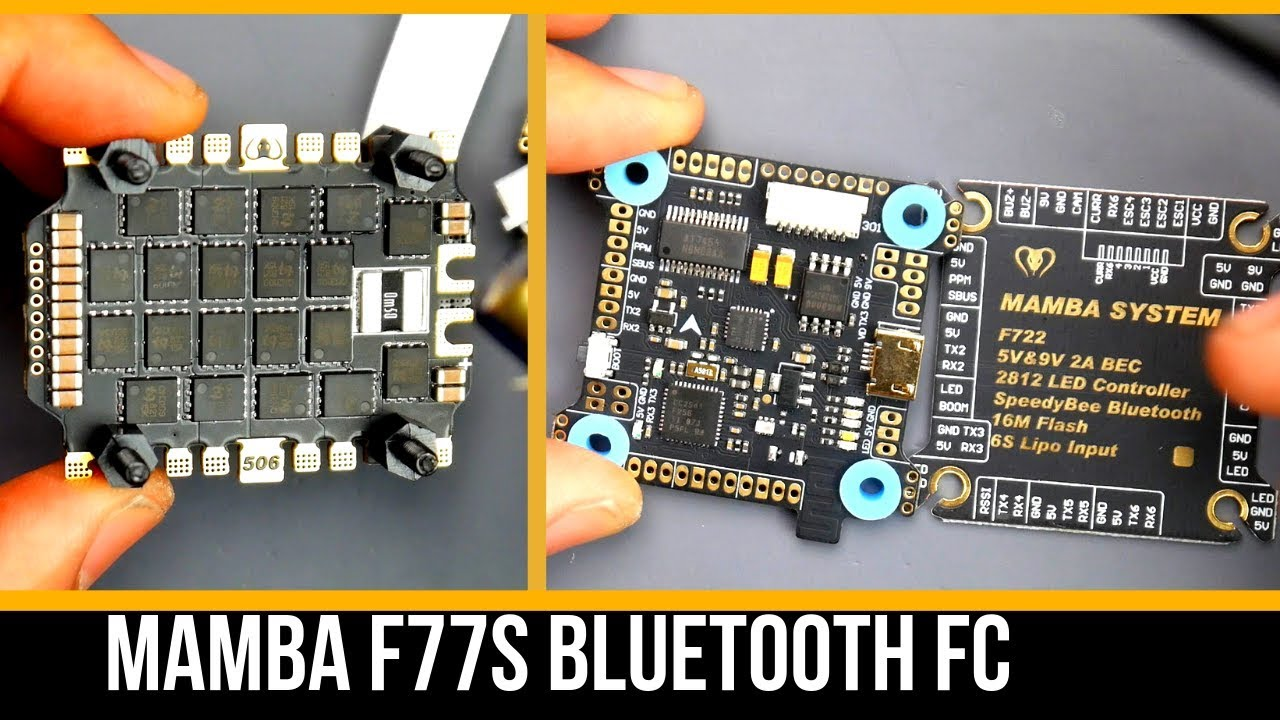 All New F4 and F7 Mamba 🐍 Flight Stacks – With Built In