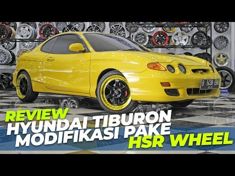 MODIFIKASI Hyundai Tiburon 2001 PAKE VELG HSR WHEEL !!!