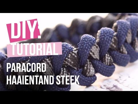Sieraden maken: Paracord armband met haaientand steek ♡ DIY