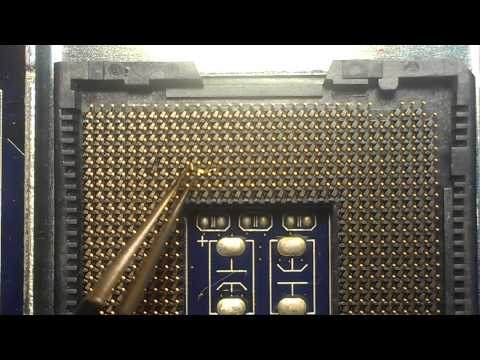 Как починить socket LGA, восстановление ножки (How to fix LGA socket pins)