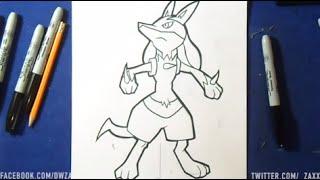 Comment dessiner Mega Lucario (Pokémon)