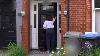 Matt Hancock's wife returns home as Health Secretary pictured embracing aide